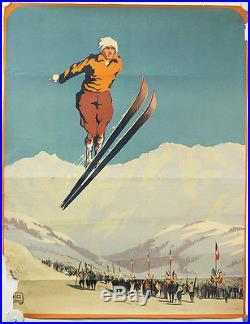 Affiche originale Ski par Alo Sports d'hiver