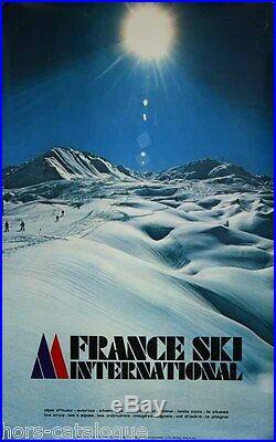 Affiche originale, Sports d hiver en France. Savoie Station ski montagne neige