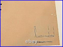 Affiche originale ancienne CIE NAVIGATION MIXTE