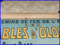 Affiche originale, ancienne Chemins de fer de l'état, Les Sables d'Olonne 1898