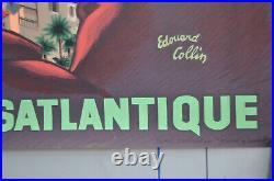 Affiche originale années 60 Allez en CORSE Edouard Collin 65 x 40 cm