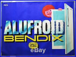 Affiche originale années 60 BENDIX Alufroid Hervé MORVAN 120 x 160 cm