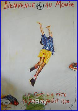 Affiche originale coupe du monde 1998 -170X 118 CM par Chambas