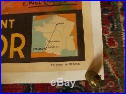 Affiche originale de Paul CHAMPSEIX HOSSEGOR, la cote d'argent 1937 entoilée