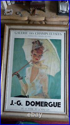Affiche originale encadrée de Jean Gabriel Domergue