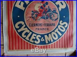 Affiche originale entoilé FAVOR Cycles & Motos vers 1930