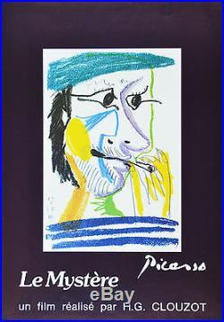 Affiche originale entoilée HOMMAGE à PICASSO Un film de HG CLOUZOT