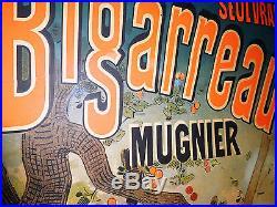 Affiche originale entoilée JULES CHERET BIGARREAU MUGNIER