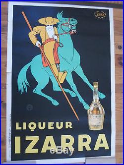 Affiche originale izarra 1934 zulla vercasson 80 / 120 cms Noire