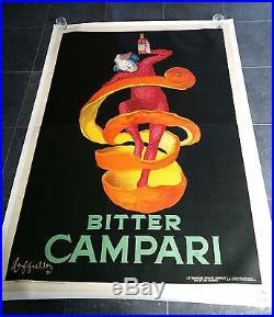 Affiche originale original poster Bitter Campari 2m x 1,4m par CAPPIELLO