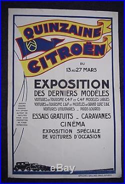 Affiche originale quinzaine Citroën 1932