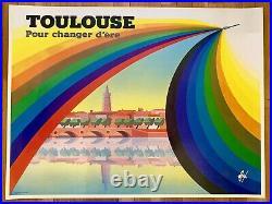 Affiche originale sérigraphie Toulouse Foré