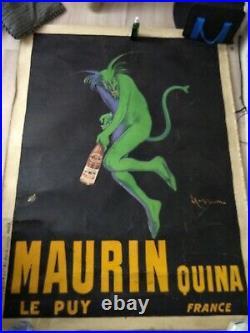Affiche originale vintage Cappielo Maurin 1906