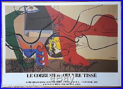 Affiche originale/vintage poster Oeuvre tissé Le Corbusier Aubusson 1987