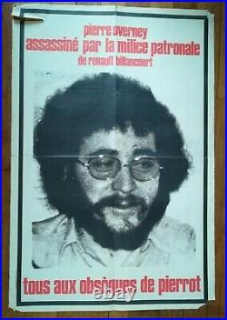 Affiche politique Tous aux Obsèques de Pierrot Pierre Overney assassiné