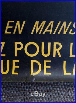 Affiche politique ancienne FRANCOIS MITTERRAND Elections présidentielles 1965