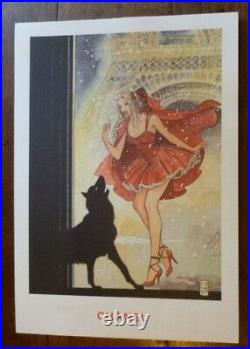Affiche publicitaire CHANEL no 5 par Milo Manara 1998 le petit chaperon rouge