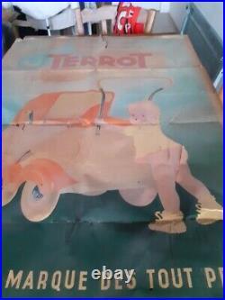 Affiche publicitaire ancienne des établissements Terrot