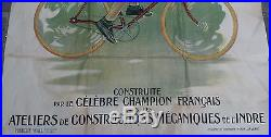 Affiche publicitaire ancienne la Bicyclette Georges Sérès rare et superbe