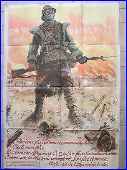 Affiche publicitaire française militaria première guerre mondiale 1914 1918 WW1