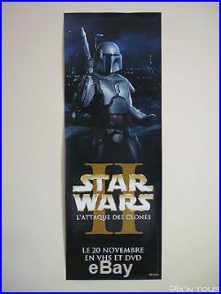 Affiche publicitaire plastifiée Star Wars II L'attaque des clones 160x58cm