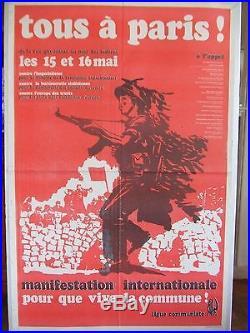 Affiche révolutionnaire Commune Mur des Fédérés 1971