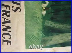Affiche sncf forêts ile de france 1949 par chapelain midy100x41