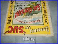 Affiche suc-gentiane chanabier apéritif aurillac cantal auvergne 1910 ancienne