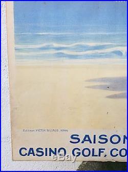 Affiche tourisme ancienne Raphael Delorme Royan 1925 / 1930