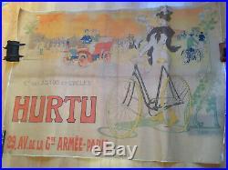 Affiche velo ancien debut 1900