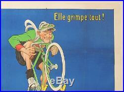 Affiche vélo cycles LOUVET MICH 120 x 160 cm