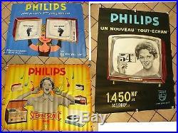 Affiches anciennes radio tv Philips ST Geniès