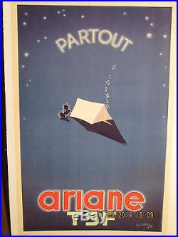 Affichette Ancienne Radio Ariane Sympa