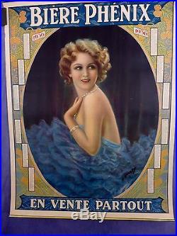 Affichette Lithographique 1936 Bierre PHENIX par Viret imp Moullot TBE