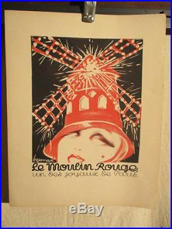 Affichette Moulin Rouge Gesmar Superbe