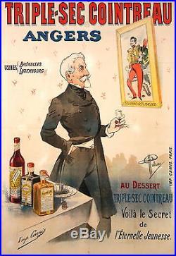 Albert Guillaume Affiche Ancienne Triple Sec Cointreau CI 1900