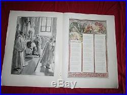 Alfons MUCHA N° de l'illustration Noél 1896-1897 couverture et page intérieure