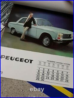 Ancien Lot Calendriers Et Affiches Publicitaire Peugeot Vehicules Vintage
