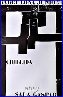 Ancienne AFFICHE ORIGINALE CHILLIDA
