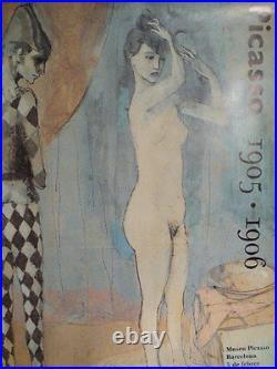 Ancienne AFFICHE picasso 1905/06 MUSEO PICASSO DE BARCELONA