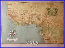 Ancienne Affiche Carte Societe Navale De L'ouest Afrique