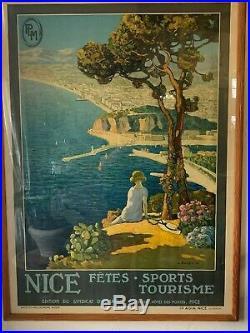 Ancienne Affiche De Nice -fêtes Sports Tourisme De L. Bonamici