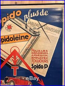 Ancienne Affiche Garage Spidoléine Automobila Géo Ham No Copy Moto Old Posters
