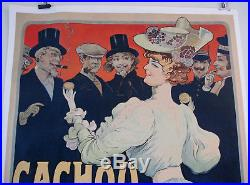 Ancienne Affiche Lithographie Cachou Lajaunie De Tamagno Antique Vintage Poster