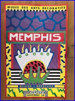 Ancienne Affiche Musee Arts Decoratifs Milano Bordeaux Memphis Sottsass 83