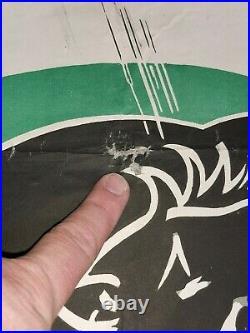 Ancienne Affiche Publicitaire la Bicyclette Inoxydable PEUGEOT signé LV vintage