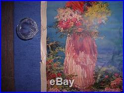 Ancienne Affiche S N C F NICE 100 cm x 64 cm signée Pierre COMBA Imprimerie ADIA