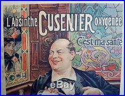 Ancienne Affiche Tamagno Bistrot Oxygenee Cusenier L Absinthe C Est La Sante