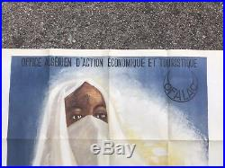 Ancienne Affiche Touristique Publicitaire Algerie 1947 Guy Nouen