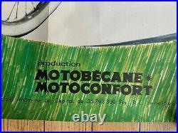 Ancienne Affiche publicitaire mobylette motobecane motoconfort 1968 118/160 cm